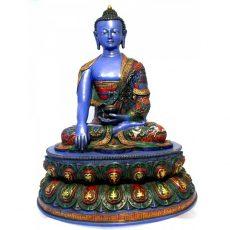 Shakyamuni Buddha Statue Resin Painted 42cm
