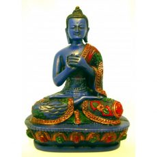 Vairochana Buddha Statue Resin Painted 14cm