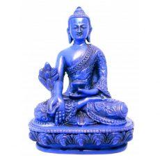 Medicine Buddha Statue Blue Resin 14cm