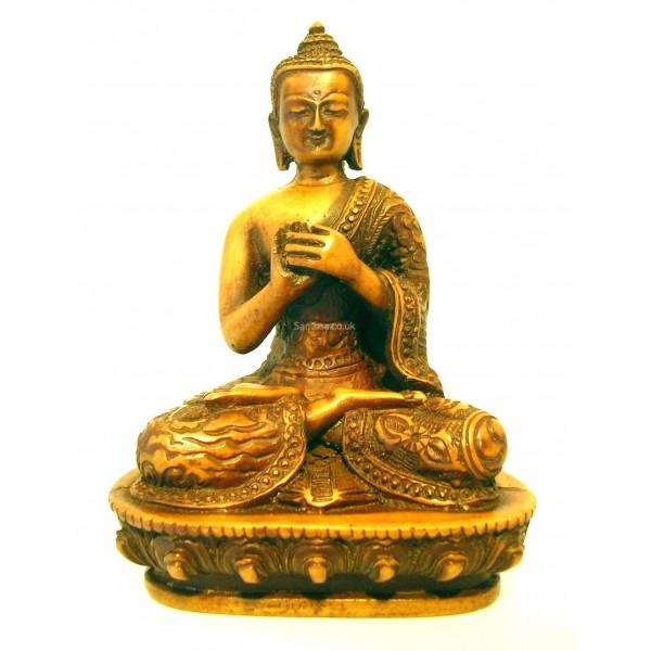 Vairochana Buddha Statue Resin 14cm