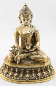 Medicine Buddha Statue Natural Finish 25cm