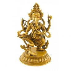 Dancing Ganesh Statue Antique Finish 15cm