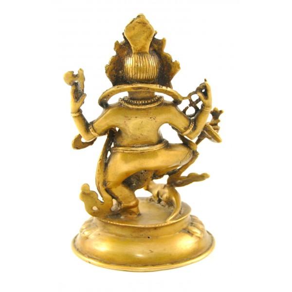 Dancing Ganesh Statue Antique Finish 15cm