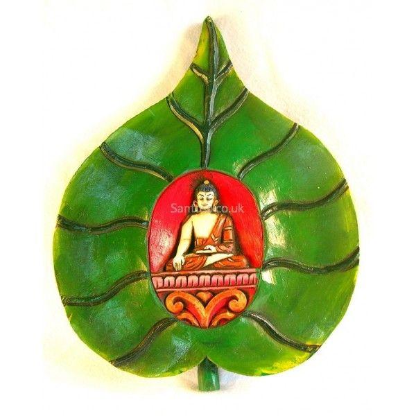 Buddha Peepal Leaf Wall Plaque