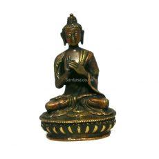 Vairochana Buddha Statue Bronze 19cm