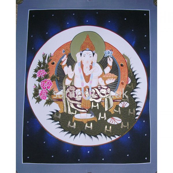 Ganesh Thangka 40cm x 33cm