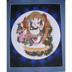 Ganesh Thangka Shrew 40cm x 33cm