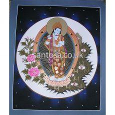 Krishna Thangka 40cm x 33cm