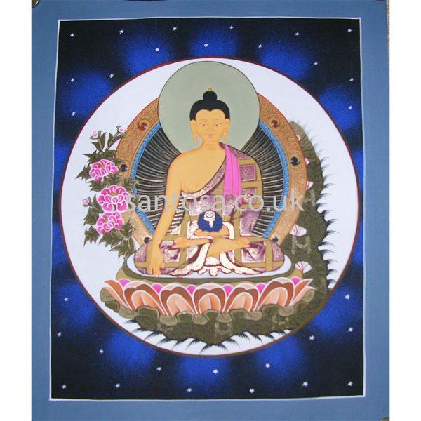 Shakyamuni Buddha Thangka 40cm x 33cm