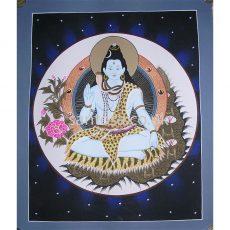Lord Shiva Thangka 40cm x 33cm