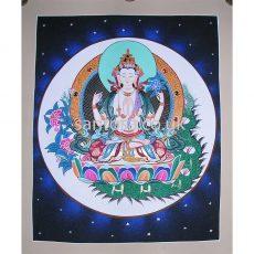 White Tara Thangka 40cm x 33cm