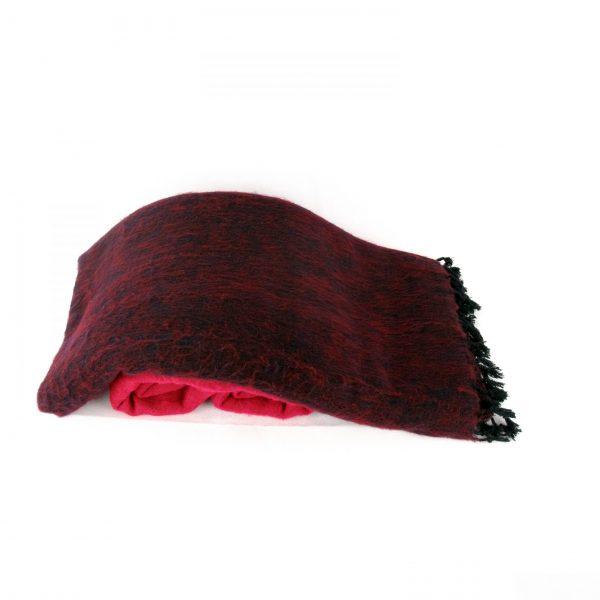 Himalayan 'Yak Wool' Blanket - Pink