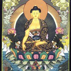 Shakyamuni Buddha Thangka 36.5cm x 28cm