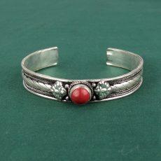 Tibetan Bracelet with Coral