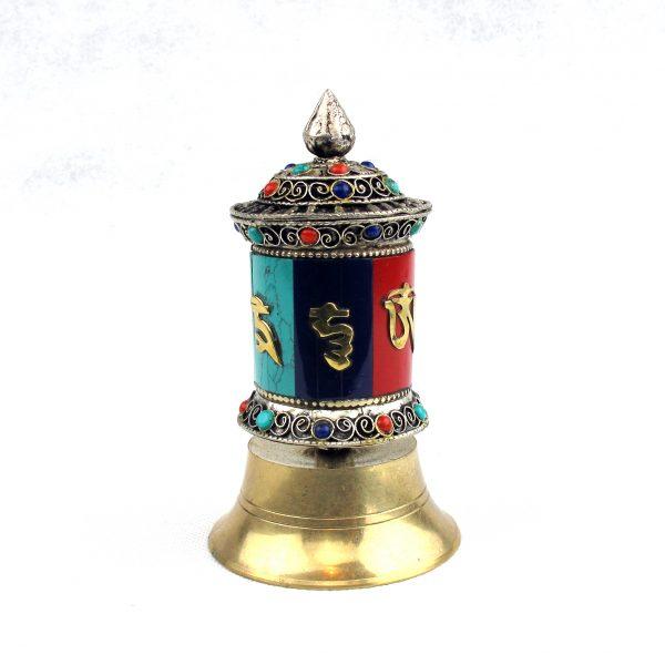 Prayer Wheel with Turquoise 13cm