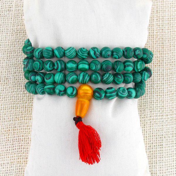 Malachite Mala Beads (Stretch)