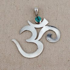 OM Symbol Pendant - Silver 4.5cm