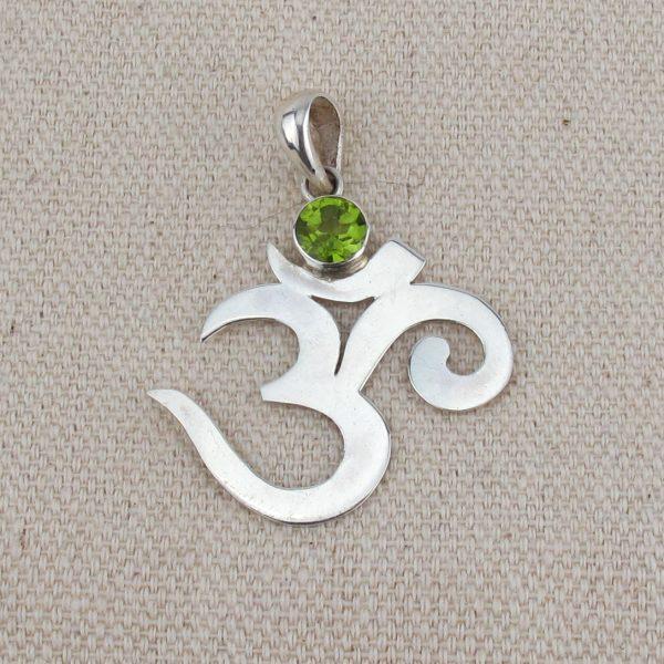 OM Symbol Pendant - Silver 3cm