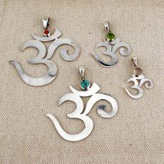 OM Symbol Pendant - Silver 2cm