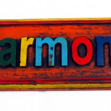 Wooden Multicolour Harmony Wall Plauque