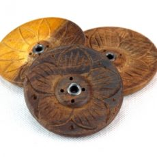 Wooden Incense Burner - Lotus Flower