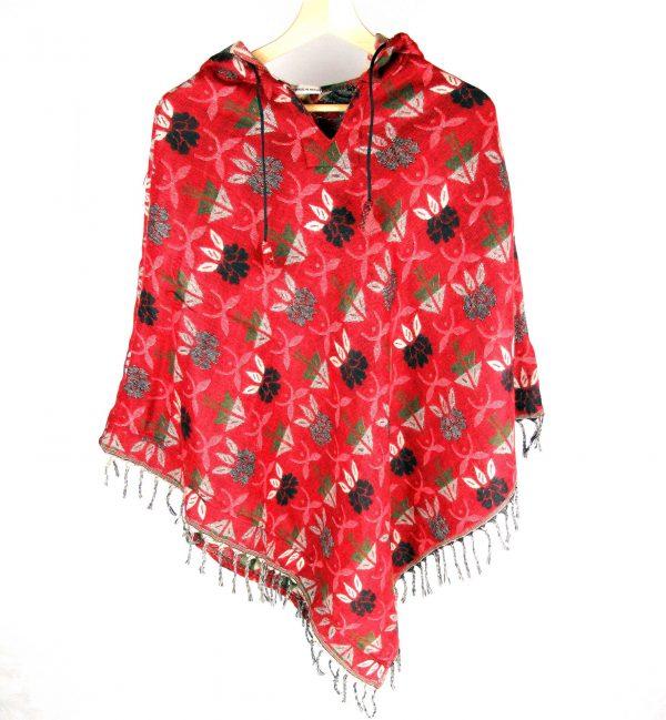 Red Blossom Poncho