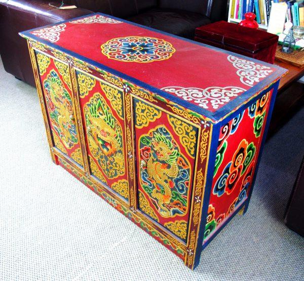 Tibetan Three Door Cabinet