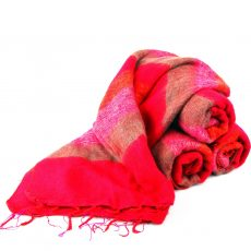 Himalayan 'Yak Wool' Shawl - Warm Pinks