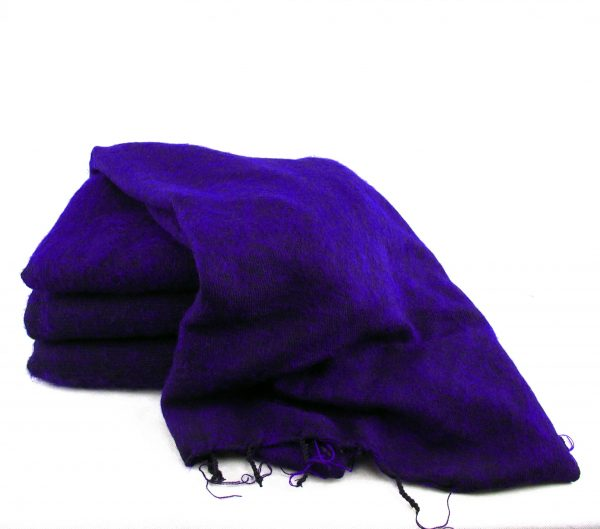 Himalayan 'Yak Wool' Shawl - Purple