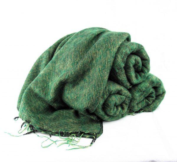 Himalayan 'Yak Wool' Shawl - Grass Green