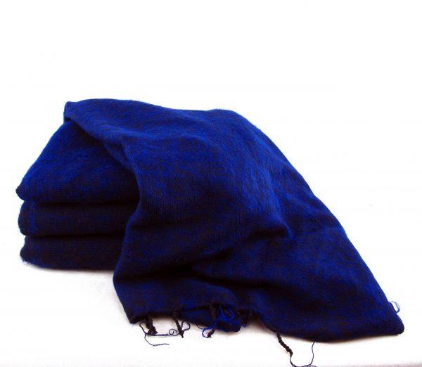 Himalayan 'Yak Wool' Shawl - Deep Blue