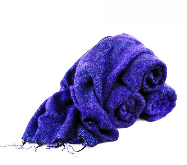 Himalayan 'Yak Wool' Shawl - Lavender
