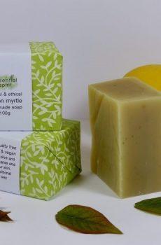 Essential Spirit  Lemon Myrtle Handmade Soap 100g