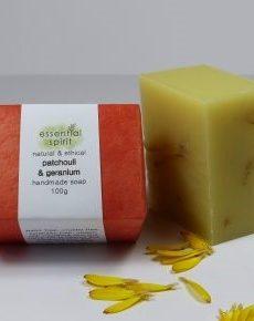 Essential Spirit  Patchouli + Geranium Handmade Soap 100g